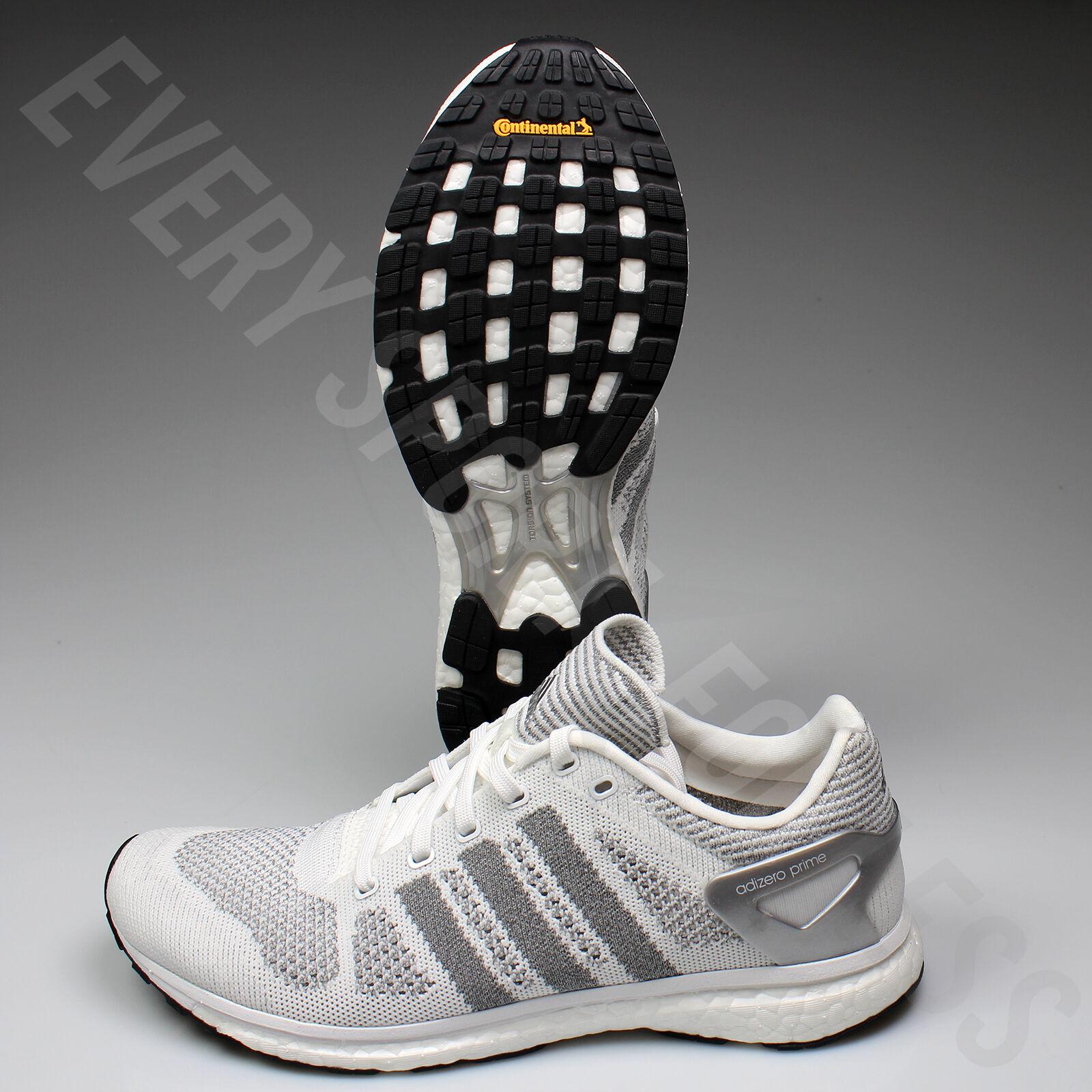 Adidas Adizero Primeknit BB4919 Mens Running shoes-Wht Sil Blk(NEW) Lists @  200