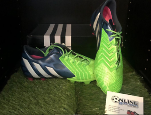 purchase cheap d8ca9 a5154 Image is loading Adidas-Predator-Instinct-FG-Rich-Blue-White-Solar-