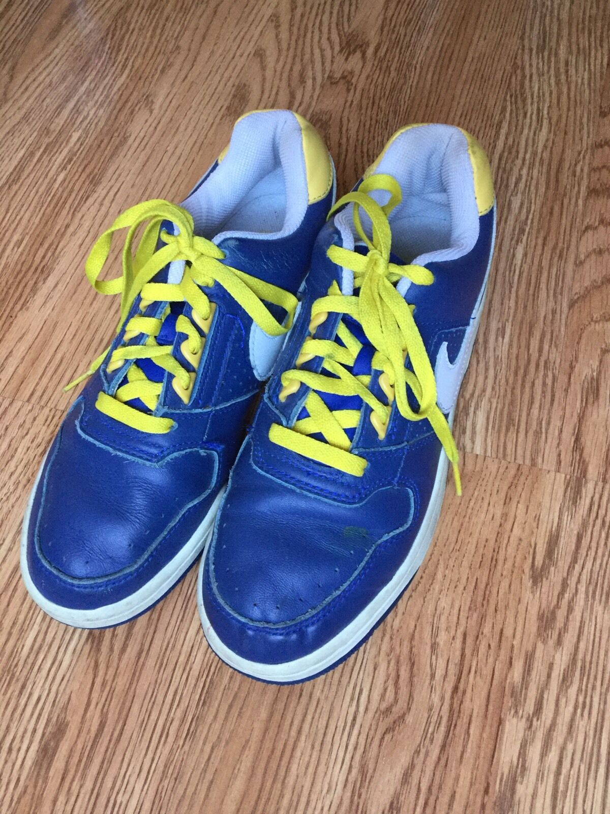 Vtg Nike Delta Force 308985 bluee & Yellow Mens Sz 8.5 Funky Hip-Hop C3A