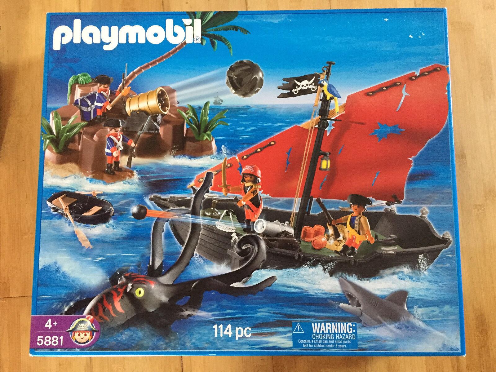 5881 playmobil Piraten-Set, Krake, PiratenStiefel, Kanone 114 Teile Neu + OVP