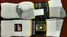 4 pr MEN'S U.S. ARMY OVER THE CALF BOOT/WORK SOCKS SHOE SIZE 6-12 (2packs)