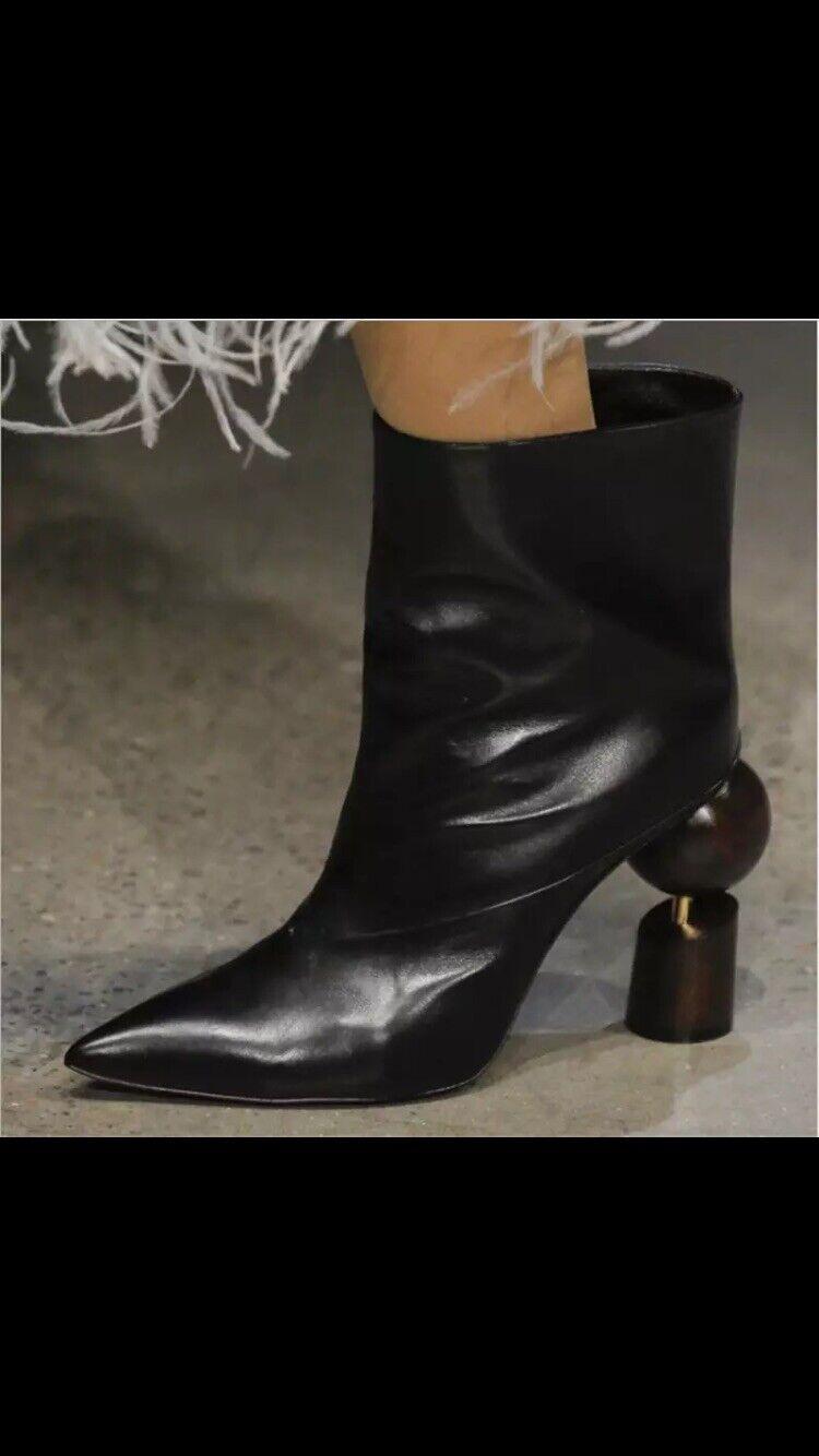 Donne 65533;Leather stivali Dimensione US 12 nero w  Marronee  Heel  Miglior prezzo