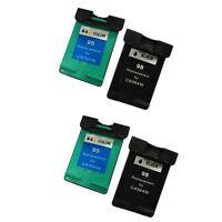 Reman ink Cartridge for HP 98/95 Photosmart 2570 2573 2575 (2 sets)