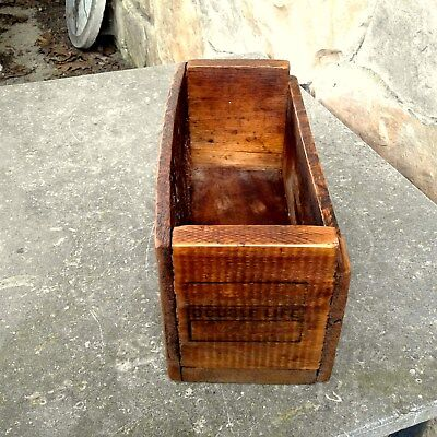 Wood Shipping Crate Box DOUBLE LIFE PLUMB AXES Rustic Primitive