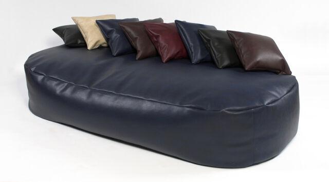 XXX-L Beanbags 16cuf *Lleather bean bag sofa bed beanbag lounger Blue
