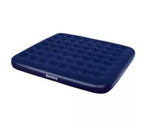 Inflatable Flocked Airbed Air Mattress Home Camping Blow Up Portable