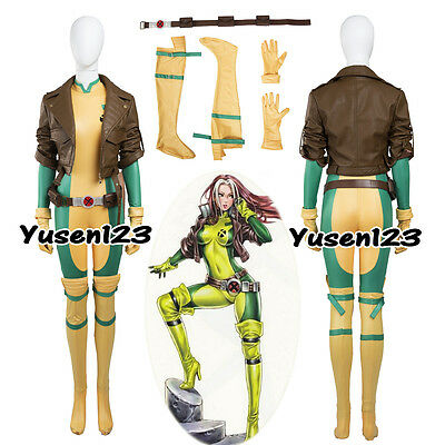 X-Men Rogue Anna Marie Cosplay Costume Jacket Jumpsuit Halloween Custom Made