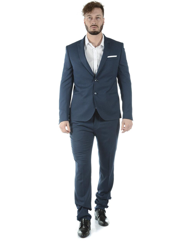 Abito Daniele Alessandrini Suit men blue A019N7123700 A019N7123700 23