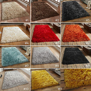 Petit-Large-Super-Doux-De-Luxe-8-5-cm-Long-Pile-Colore-Shaggy-Polaire-Tapis-PL95