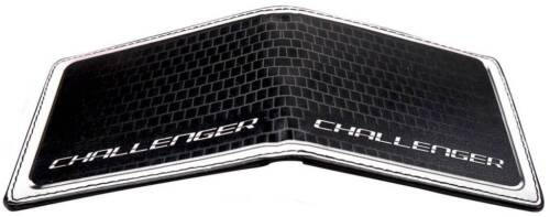 Men Wallet Bifold Black Dodge Challenger SRT Bold Grille Logo Genuine