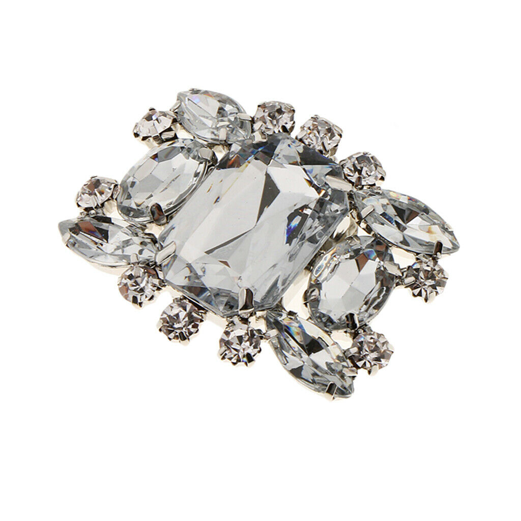 Bridal Wedding Rhinestone Crystal Silver Boots Shoe Clip Accessory Jewelry