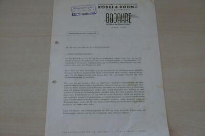 200244) Köla - 80 Jahre Rundschreiben - Prospekt 1950 Auf Dem Internationalen Markt Hohes Ansehen GenießEn