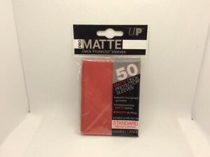 50-Ultra-PRO-Pro-Matte-Deck-Protector-Card-Sleeves-Standard-RED-B3G1-Free
