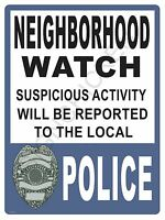 Neighborhood Watch Sign - Design - Stop Theft & Vandalism -protect Yours