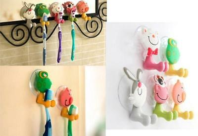TIU Animal Silicone Toothbrush Holder Family Set Wall Bathroom Hanger Sucker Cup