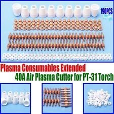 190 Air Plasma Cutter Consumable Electrode Tip Torch Pt 31 Lg 40 Cut50 Supplies