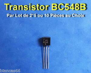 K3E *** *** LOT AU CHOIX DE 2*5  OU 10 TRANSISTORS BC5557B