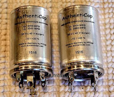 Authenticap CAPACITOR CAN 2000//2000 uf @35VDC for McIntosh C-20 C-22 MX-110