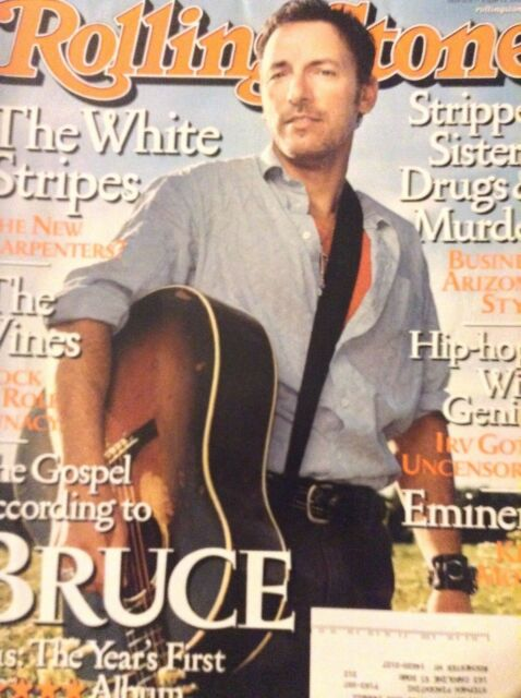 Rolling Stone Magazine Bruce Springsteen  August 22, 2002 112918nonrh