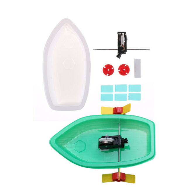 Plastic Science Technology Experiment DIY Educational Boat Toy Model Building FF