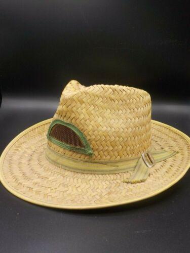 Vintage 1940's Straw Cowboy Hat Farmers Garden Cap