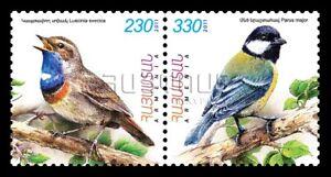 Armenia Armenia Mnh** 2011 Flora And Fauna Birds Luscinia Svecica Parus Major Sc 880-881 Asia