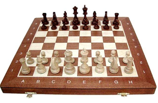 Schach; Turnier - Schachspiel Staunton Nr. 4, Holz, Neu