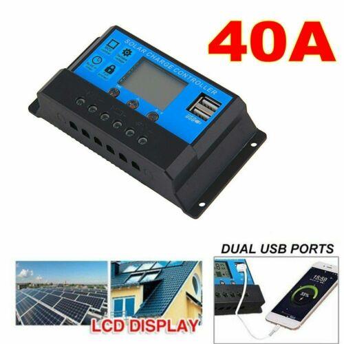10//20//30//40 50A LCD Mppt Panneau Solaire Batterie Régulateur Charge 2 USB
