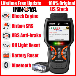 Innova 7100P OBDII Auto Scanner Diagnostic Tool Car Battery ABS Airbag Oil Reset