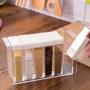 Gewürzaufbewahrung 6pcs set transparent gewürz box salz gewürz aufbewahrung gewürzbox