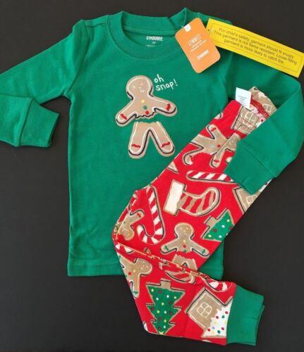 Gymboree Boys Christmas Pajamas Oh Snap Gymmies Size 2T 3 4 NEW