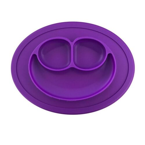 Cute Happy Silicone Mat Placemat Baby Kids Suction Table Food Tray Plate Bowl