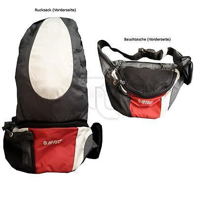 HI-TEC Rucksack Backpack Wandern Bauchtasche grau-rot-weiß 2 in 1 XL100006 NEU