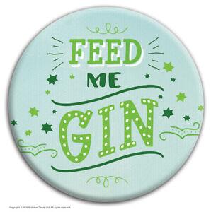 brainbox candy feed me gin badge funny novelty joke cheap gift hen