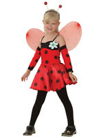 Kids Ladybug Fancy Dress Costume Lady Bird Insect Cute Bug Girls Outfit Age 3-10