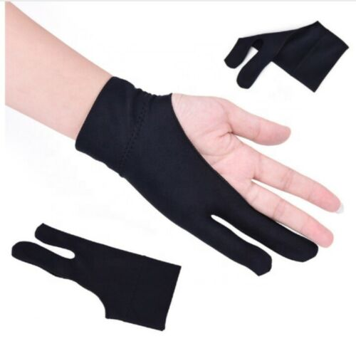 2 FINGER PROFESSIONAL ARTIST PINK GLOVE FOR DRAWING /& SKETCHING ON TABLET//SCREEN