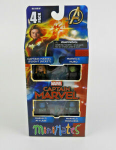 Captain-Marvel-Minimates-4-Pak-Box-Set-Movie-New-in-Box-Original-Packaging