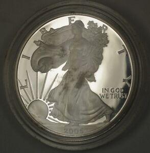 2005-W-American-Proof-Silver-Eagle-Coin-No-Box-or-COA