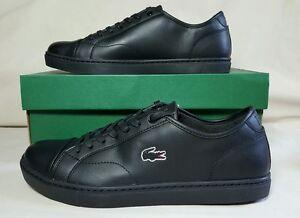 mens black lacoste shoes