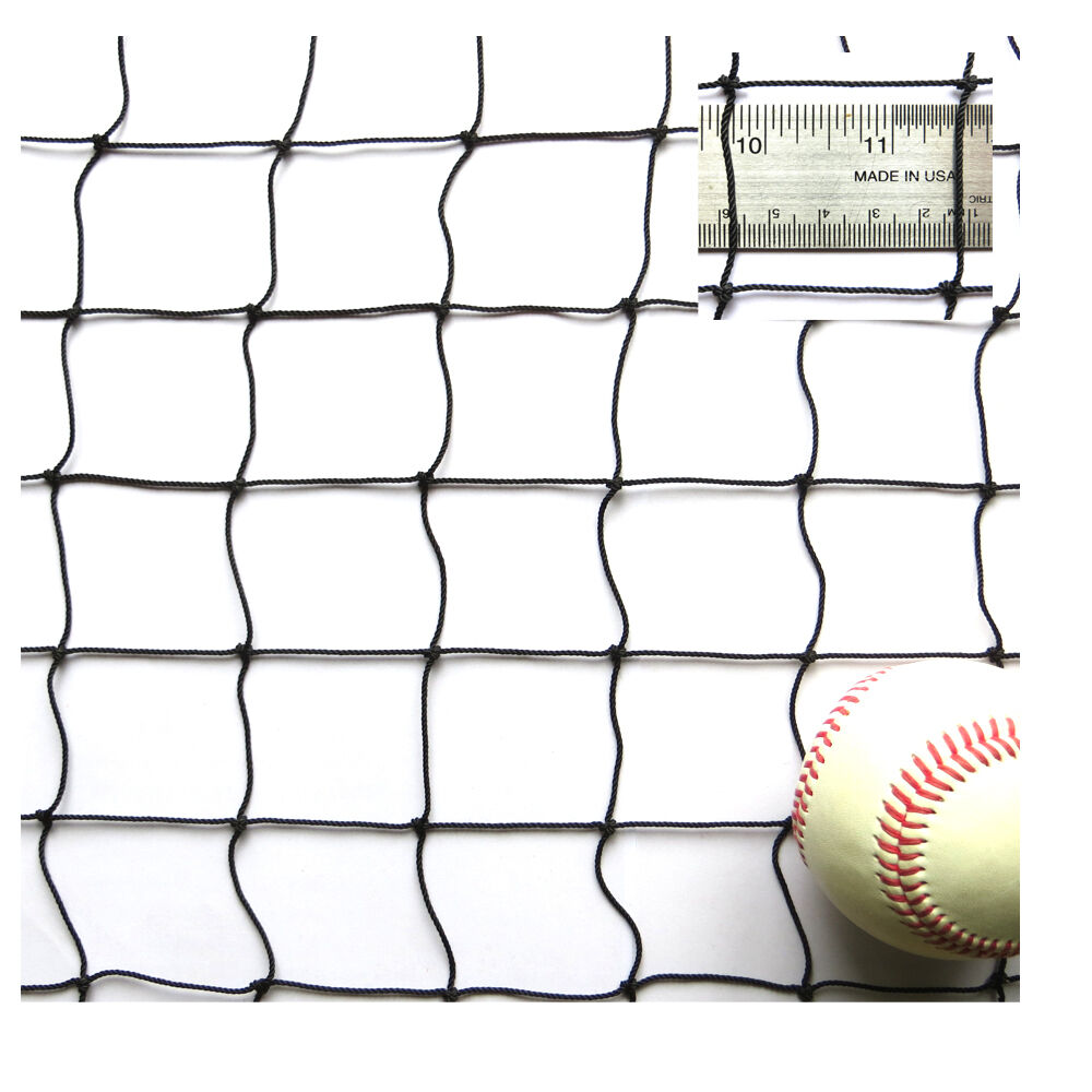 12' X 30' Nylon Netting, X 1-3 4  SQ. MESH - Baseball Multisport General Net