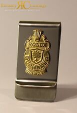 Genuine Rolex Chrome Money Clip from Collectors Spoon 9ct Gold Dipped