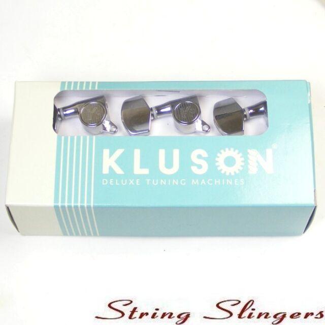 Kluson MLS33C Modern Metal German Top Locking tuners/machine heads 3x3 Chrome
