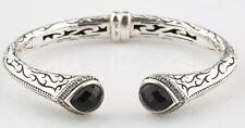 Scott Kay Jewelry 925 Etch Sterling Silver and Diamond-Framed Onyx Cuff Bracelet
