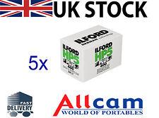 5x Ilford HP5-400 Profesional 135-24 negro y blanco película negativa (impresión)