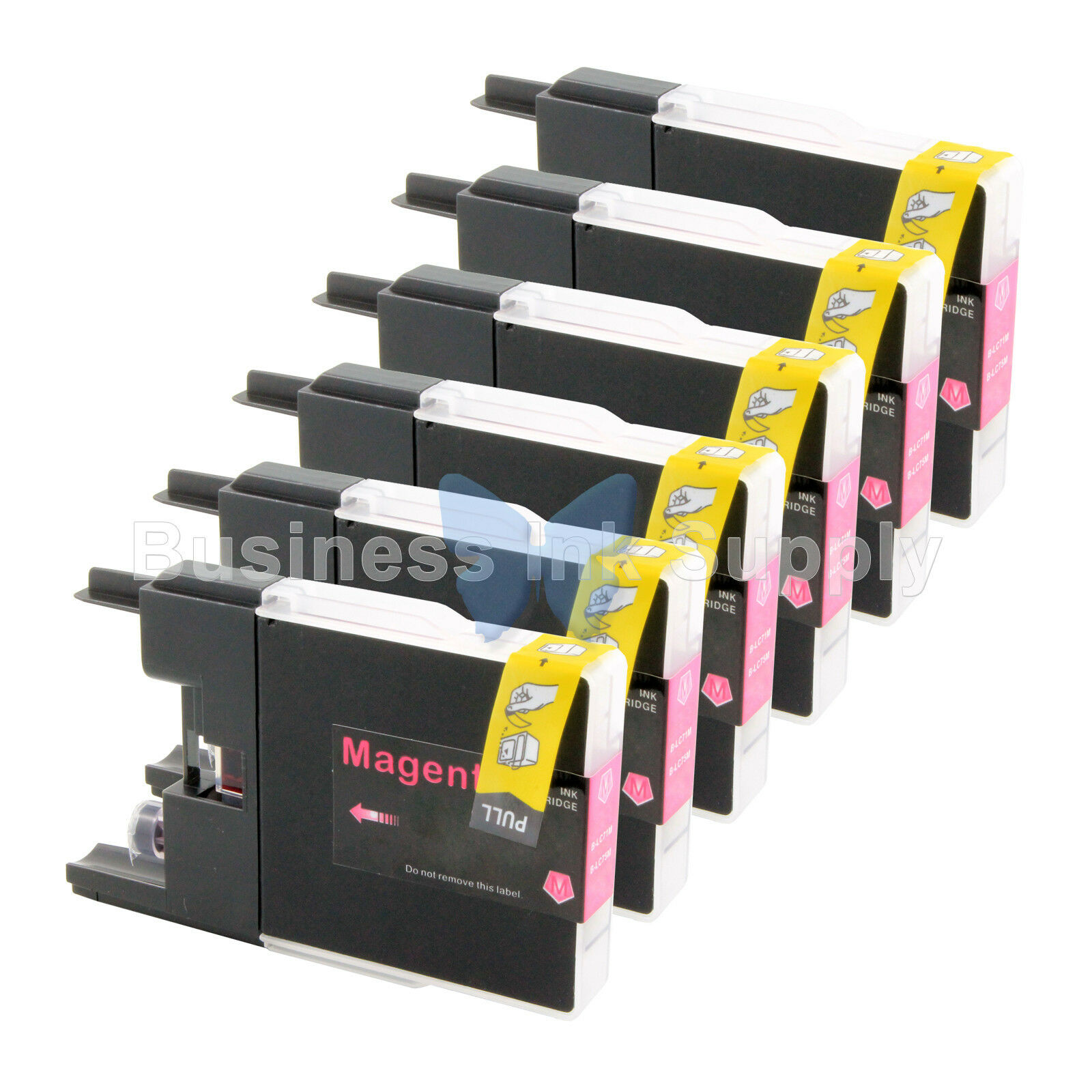 6510 MG Compatible Inkjet Cartridges etc; Magenta Ink: CLC75M Replacement for Brother LC75M; Models: MFC J430 430W