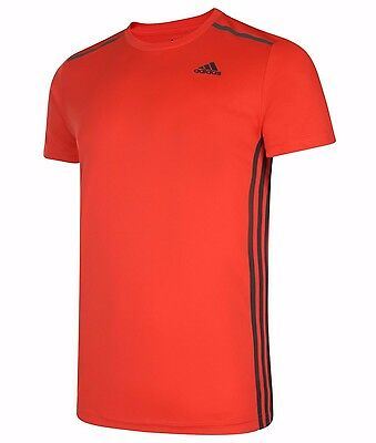 Men's New Adidas Cool 365 Running T Shirt Top Fitness Gym Training Gym Red | eBay