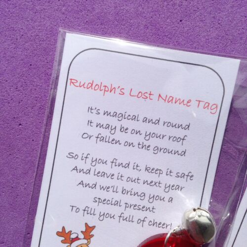 Rudolph/'s Lost nom tag Tags Christmas Eve Magic étiquettes Fundraising campagnard