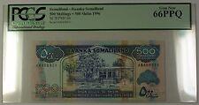 1996 Somaliland 500 Shillings 500 Shilin Bank Note SCWPM# 6b PCGS Gem New 66 PPQ
