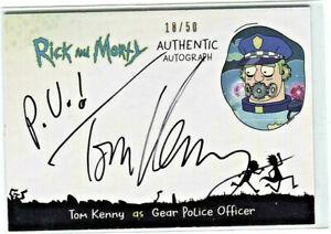 CRYPTOZOIC RICK AND MORTY SEASON 2 * AUTOGRAPH CARD * TOM KENNY/GEAR POLICE OFCR