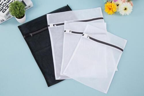 Zipped Wash Laundry Bag Washing Mesh Net Lingerie Underwear Bra Clothes Socks